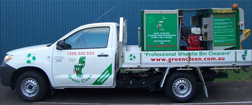 Wheelie Bin Cleaning >> Wheelie Bin Cleaners Green Cleen News
